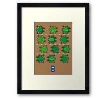 Revenge of the Frogs Framed Print