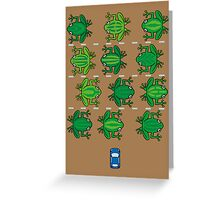 Revenge of the Frogs Greeting Card