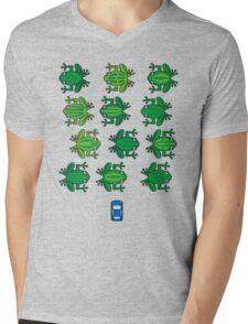 Revenge of the Frogs Mens V-Neck T-Shirt