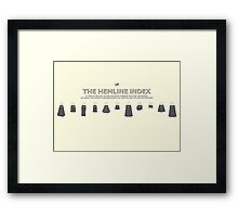 The Hemline Index Framed Print