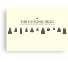 The Hemline Index Canvas Print