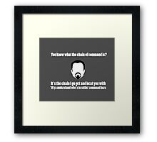 The Chain of Command - White Framed Print