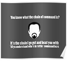 The Chain of Command - White Poster