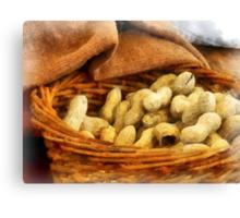 Basket of Peanuts Canvas Print