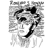 Rowland S. Howard Tribute Photographic Print