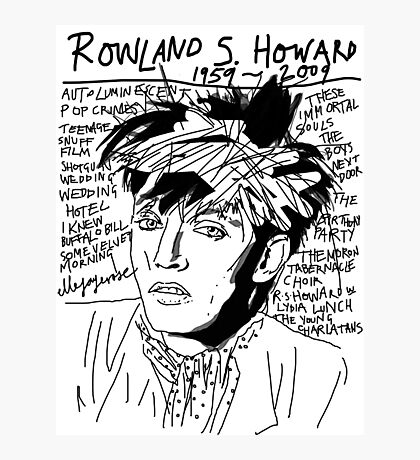 Rowland S. Howard Tribute Photographic Print