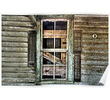 Old Shutters Poster