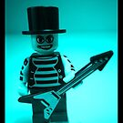&quot;Have a Rocking Birthday&quot; Custom LEGO Emo Guitarist Birthday Greeting Card, by &#x27;Customize My Minifig&#x27; by Chillee
