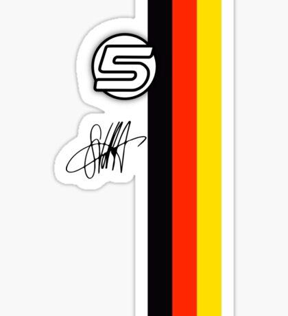Vettel Helmet sig Sticker
