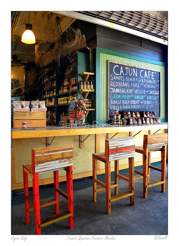 """""""Cajun Cafe"""" New Orleans French Market by Sandra Russell"""