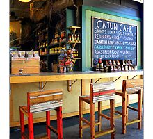 """Cajun Cafe"" New Orleans French Market by Sandra Russell"