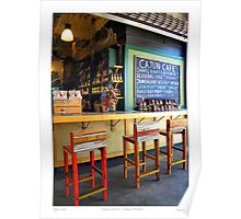 """Cajun Cafe"" New Orleans French Market Poster"