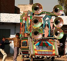 Portable PA system, Indian Style! by Christian Wilson