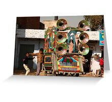 Portable PA system, Indian Style! Greeting Card