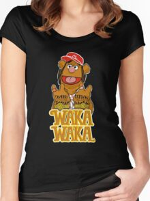 waka waka flame Women's Fitted Scoop T-Shirt