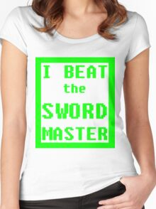 I Beat the Sword Master Women's Fitted Scoop T-Shirt