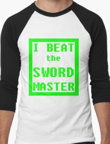 I Beat the Sword Master Men's Baseball ¾ T-Shirt