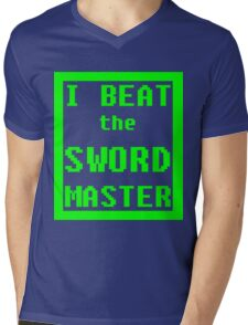 I Beat the Sword Master Mens V-Neck T-Shirt