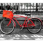 """""""Red Bike""""  Jackson Square New Orleans by Sandra Russell"""