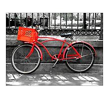 """Red Bike""  Jackson Square New Orleans Photographic Print"