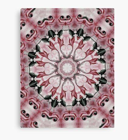 Rococo red Rosette- R102 Canvas Print