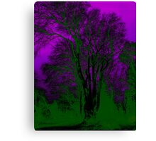 The Tree With Green Flames Canvas Print