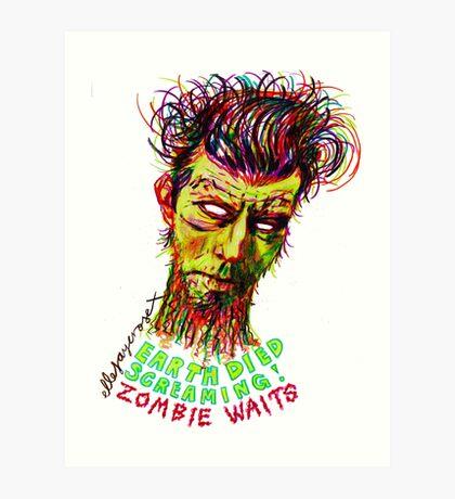 Zombie Waits Art Print