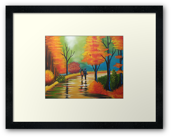 FALL WOODS WALK by ward-art-studio