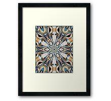 Baroque Earth tones Rosette- R107 Framed Print