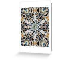 Baroque Earth tones Rosette- R107 Greeting Card