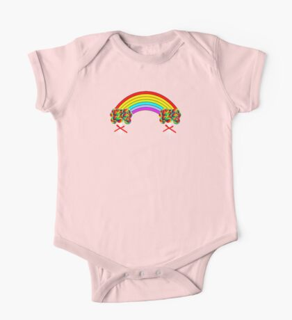 Rainbows and Lollipops One Piece - Short Sleeve