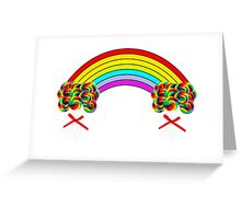 Rainbows and Lollipops Greeting Card