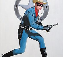 LONE RANGER CLAYTON MOORE by ward-art-studio