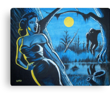 BEAUTY AND THE BIGFOOT Canvas Print