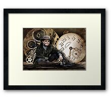 The Little Time Keeper Framed Print