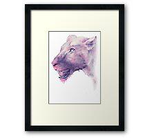 Multicoloured Lioness  Framed Print