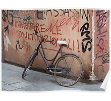 Bike, Venice Poster