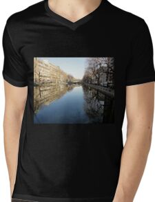 Water Reflections, Canal, Paris, France 2012 Mens V-Neck T-Shirt