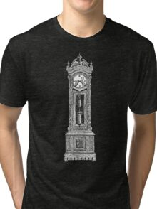 Grandpa Clock on dark Tri-blend T-Shirt