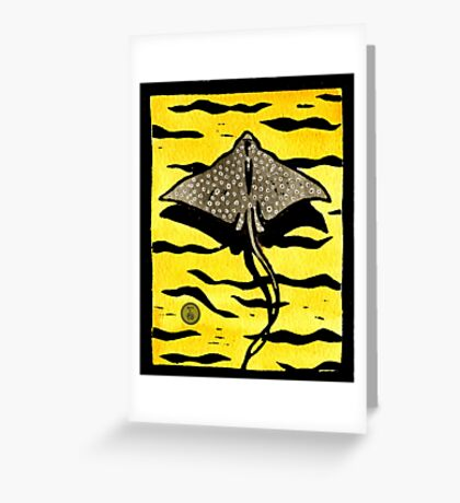 White Spotted Eagle Ray Greeting Card