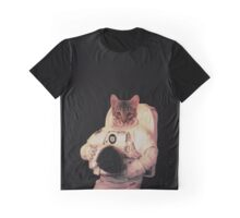 Cat Astronaut Graphic T-Shirt