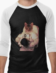 Cat Astronaut Men's Baseball ¾ T-Shirt