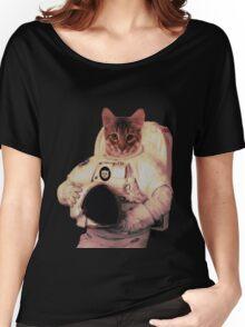 Cat Astronaut Women's Relaxed Fit T-Shirt