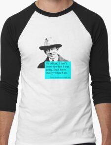 Uncertain Heisenberg at a traffic stop Men's Baseball ¾ T-Shirt