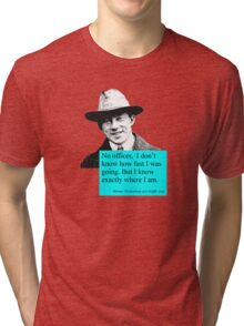 Uncertain Heisenberg at a traffic stop Tri-blend T-Shirt