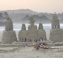 Sand Castle on the Beach by Mikeinbc1