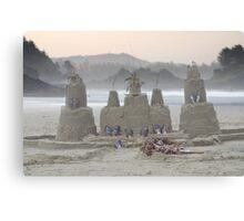 Sand Castle on the Beach Canvas Print