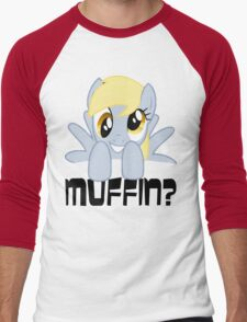 Derpy Hooves - Muffin? Men's Baseball ¾ T-Shirt