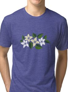 Tropical Flowers 2 Tri-blend T-Shirt