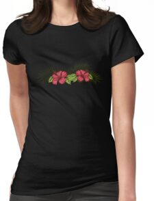 Hibiscus and Palms 1 Womens Fitted T-Shirt